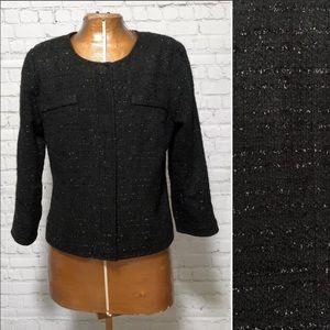 Laundry By Shelli Segal Metallic Tweed Blazer EUC
